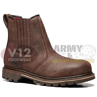 V12 Rancher Brown Full Grain Leather