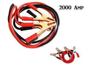 Cavi-Collegamento-Batteria-Auto-2000-Amp-Avviamento-Camper-Moto-con-Borsa-2-5mt