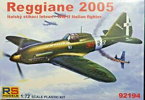 Reggiane-Re-2005-Italian-WWII-Fighter-RS-Models-Kit-1-72-92194-Nuovo