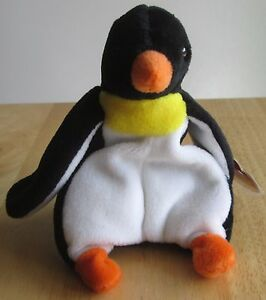 Ty Beanie Baby Rare Style 4075, Waddle the Penguin, Great condition
