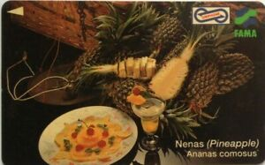 Malaysia-Used-Phone-Cards-Local-Fruits-Pineapples