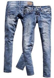 Timezone-Damen-Jeans-Nini-16-5488-cool-bleach-skinny-Jeanshose-Damenjeans-Roehre