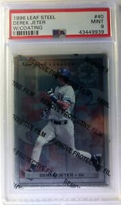 1996-96-Leaf-Steel-Derek-Jeter-Rookie-RC-40-W-Coating-PSA-9-Pop-17-Only-1