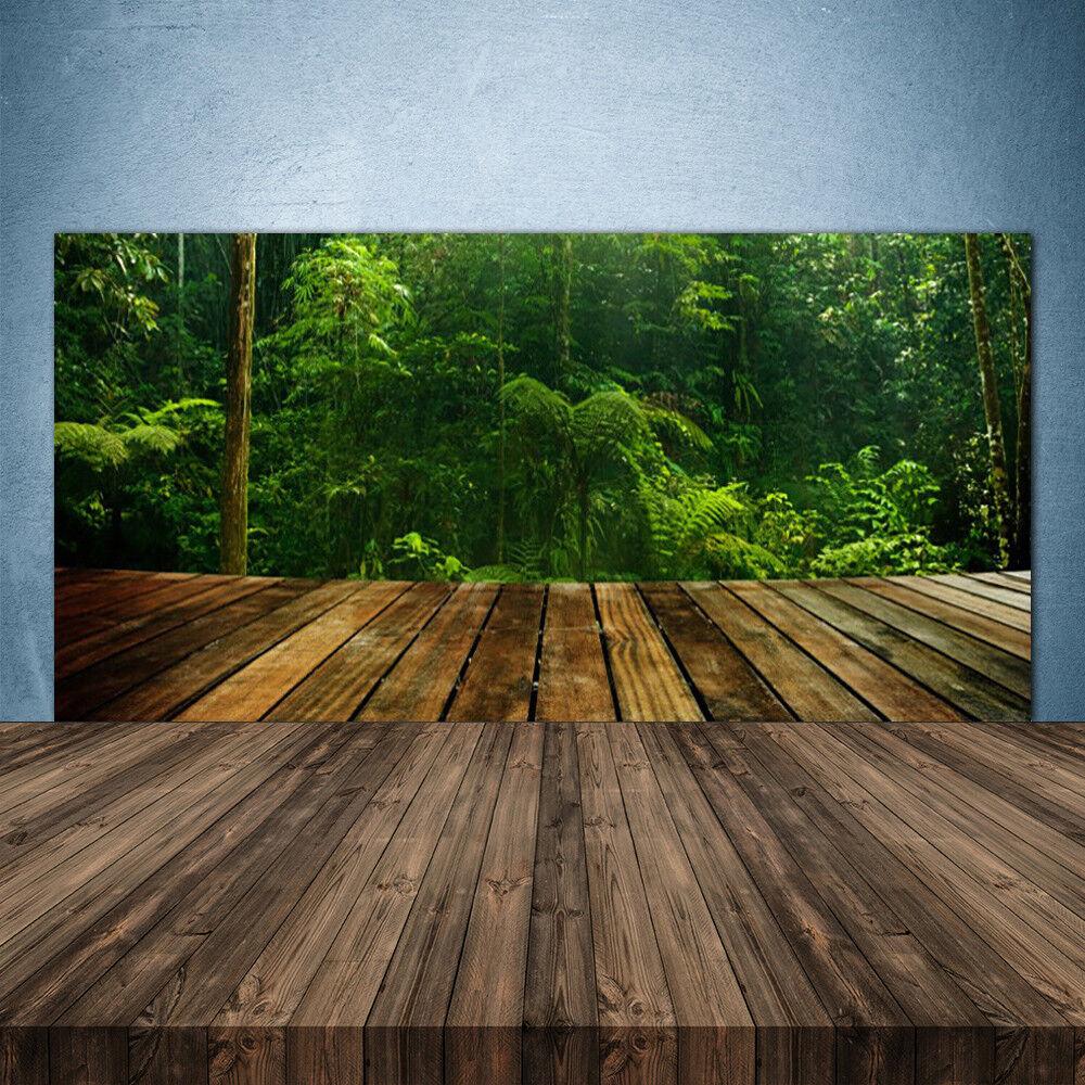 Crédence de cuisine en verre Panneau 140x70 Nature Forêt