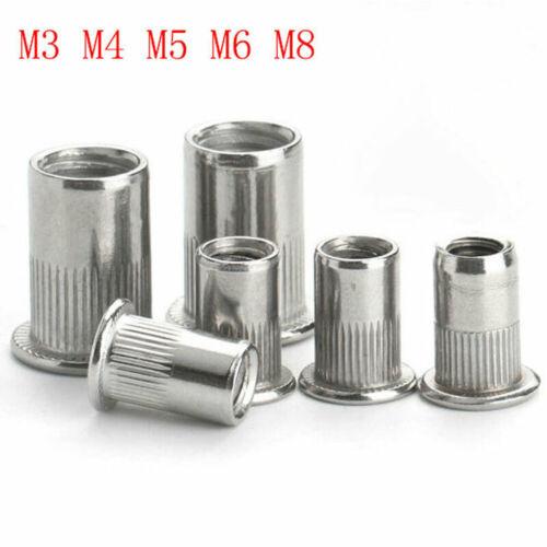 150pcs Aluminum Rivet Nut Kit Metric Rivnuts Nutsert Assorted M3 M4 M5 M6 M8 Set