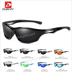 DUBERY Men Polarized Square Sunglasses Outdoor Driving Riding Sport Glasses New
