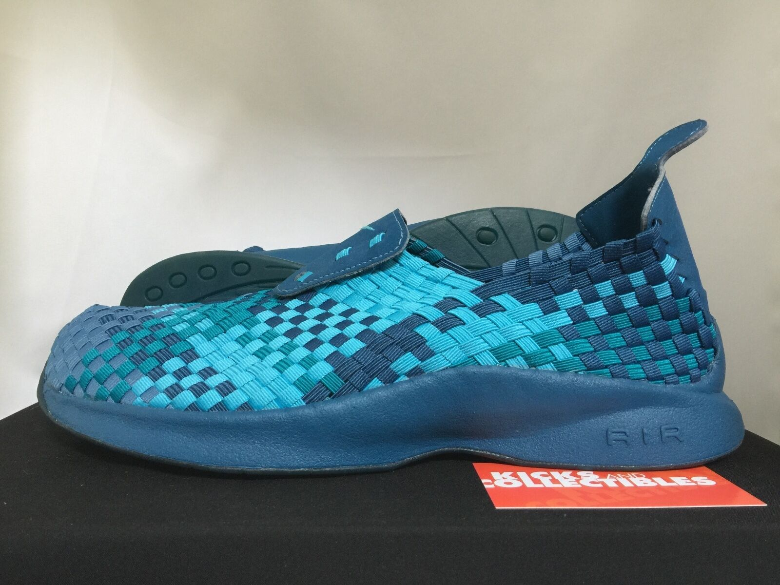 Nike Air WOVEN 609065 441 10  marina clearwater aquamarine blue chukka footscape Comfortable and good-looking