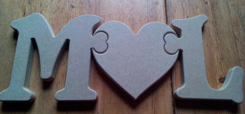 la placca 18mm MDF non associate Jigsaw Puzzle Lettere e Cuore Craft vuoto