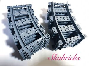 LEGO PART 53400 DARK BLUISH GREY TRAIN TRACK PLASTIC RC TRAINS CURVE X1 PIECE