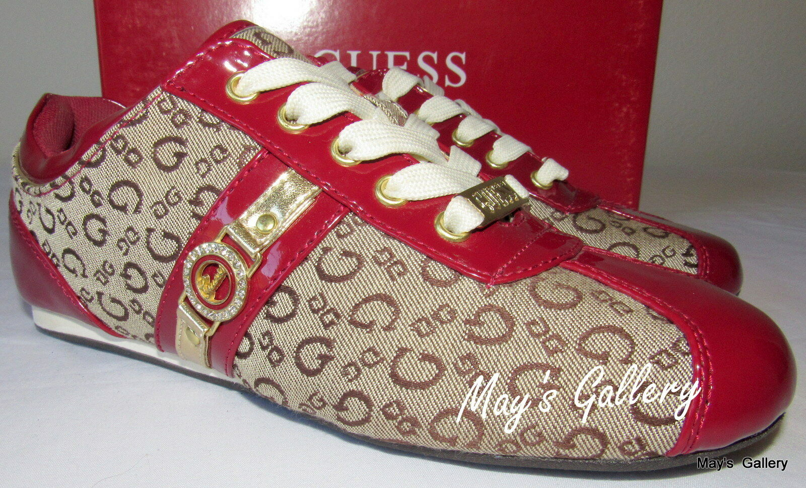 GUESS Sneaker Tennis Sport  Athletic   Walking Chaussures Chaussures Flip Flop NIB Sz  6