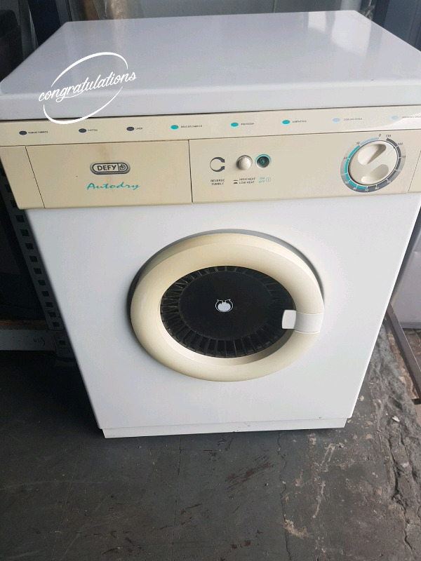 Defy 5kg tumble dryer with a broken power knob