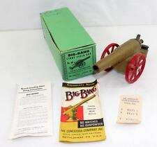 Vintage 1957-1958 Cast Iron Big Bang Field Cannon 6F Original Box Papers Receipt
