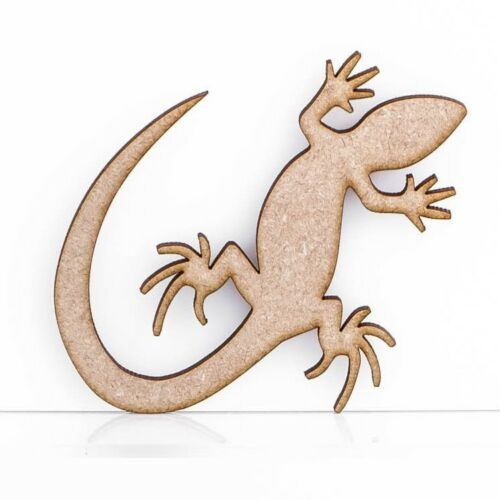 Lizard Gecko Craft Shapes Embellishments 3mm MDF Wood Design Project