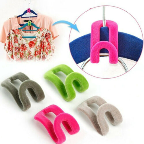 60Pcs Stable Hanger Connector Cascading Clothes Rack Hook Chest Space-saving