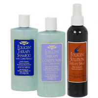 Folligen Therapy Spray Shampoo Conditioner Combo Copper Peptides Hair Growth