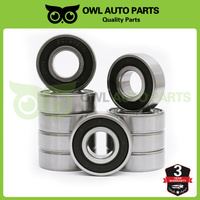Rubber Shields 6004 2RS Ball Bearings 20 42 12 mm 2 Pcs