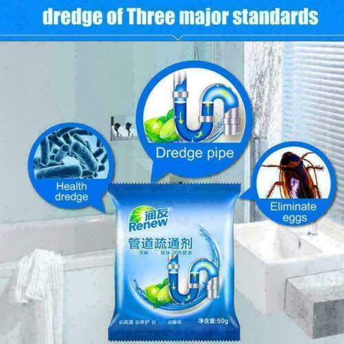 Starker Nicht korrosiv Spüle Toilette Küche Abfluss Pulverreinige Unblocker G5N5