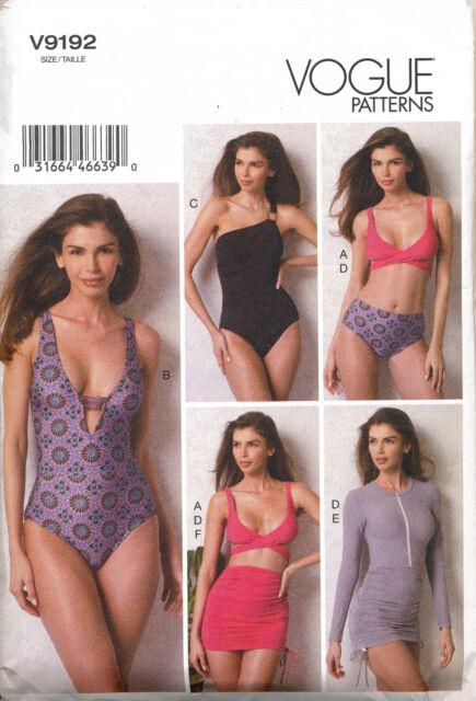 Vogue Sewing Pattern 9192 Misses 14-22 Swimsuits Bikini Swimwear ...