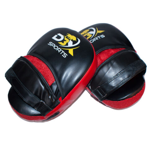 Focus Pads Boxing Hook and Jab Pro Fight Training Punch Gloves MMA BLACK /& RED