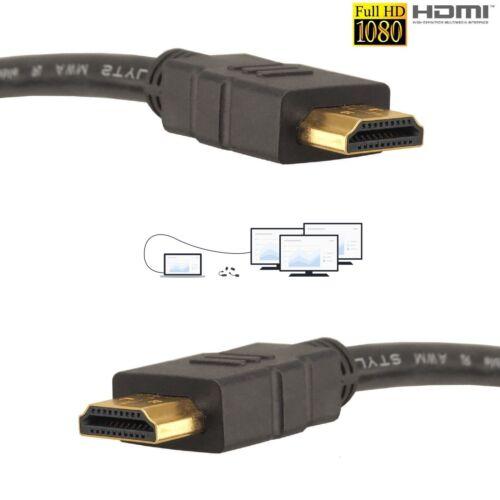 GOLD 1080P HDMI CABLE LEAD SMART HD TV HDTV 3D METRE 1m 1.5m 2m 3M 5M 10M Uk