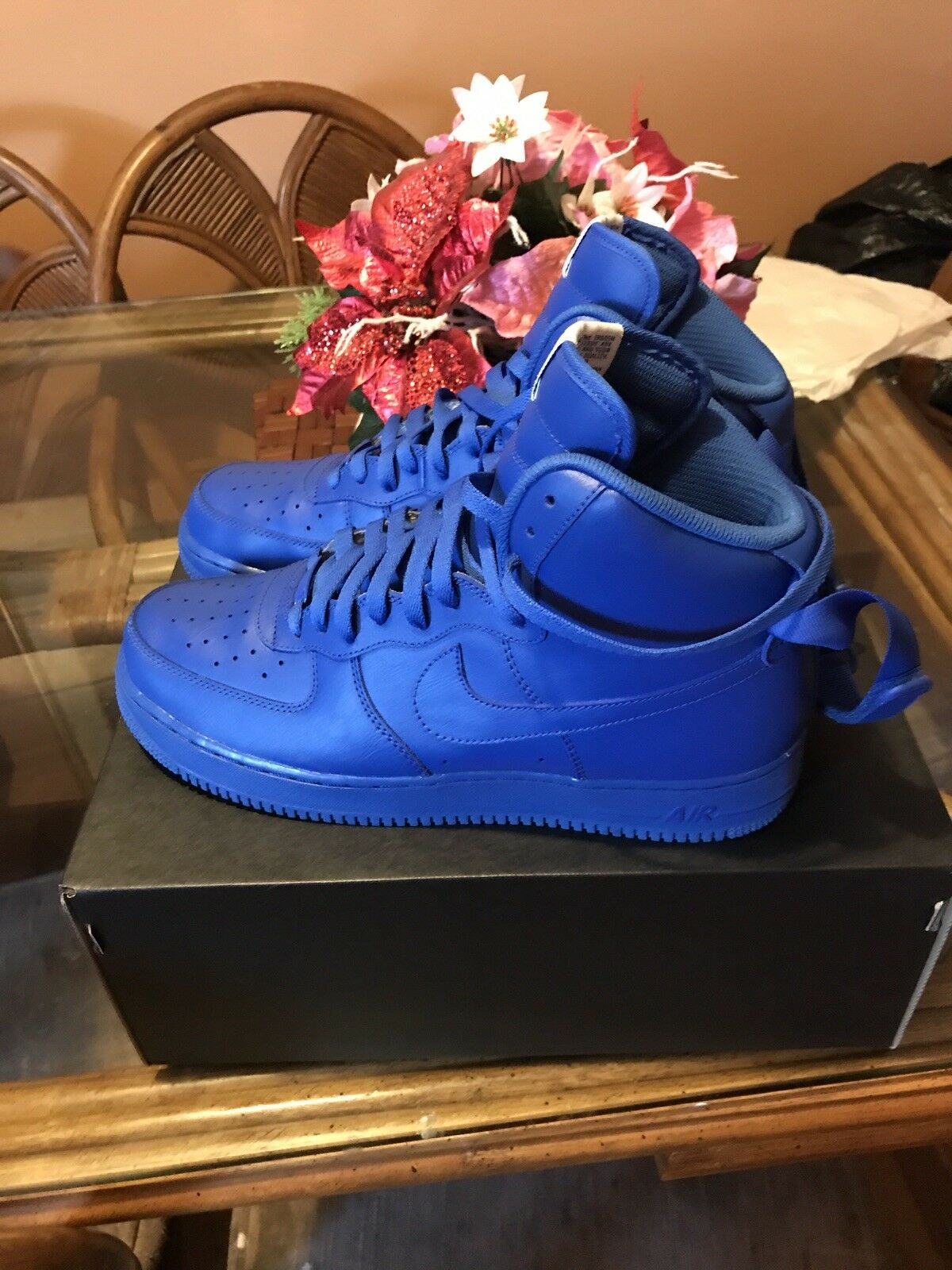 Nike Air Force Force Force 1 High Custom Azul Wild Casual Shoes 5bbd54