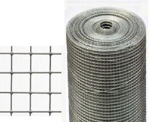 Volierendraht Maschendraht Zaun Stahl Verzinkt 25mt Mesh19x19mm Ebay