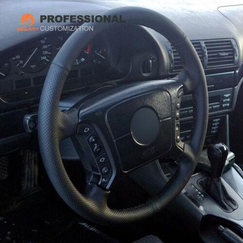 DIY Schwarzes Echt Leder Auto Lenkrad Abdeckung für BMW E36 E46 E39 X3 E83 E38
