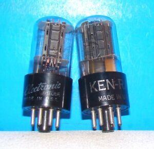 Details about 12SN7GT GE radio vintage audio electron amplifier vacuum  tubes 2 valves 12SN7GTA
