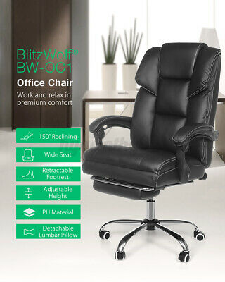 Details about  BlitzWolf Gaming Chair Office Ergonomic Computer Chairs Footrest 180° Recliner