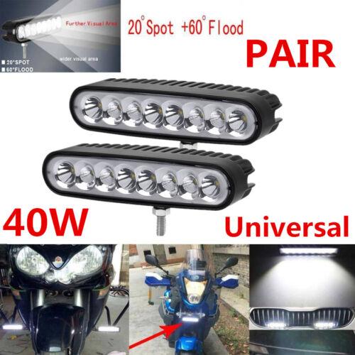 168x38mm Slim Led Light Bar Spot Flood Motorcycle ATV 4X4WD Bumper Backup Pods