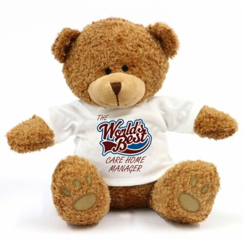 The Worlds Best Care Home Manager Teddy Bear