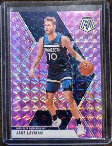 2019-20 Panini Mosaic Jake Layman Purple Prizm #/49 - Timberwolves