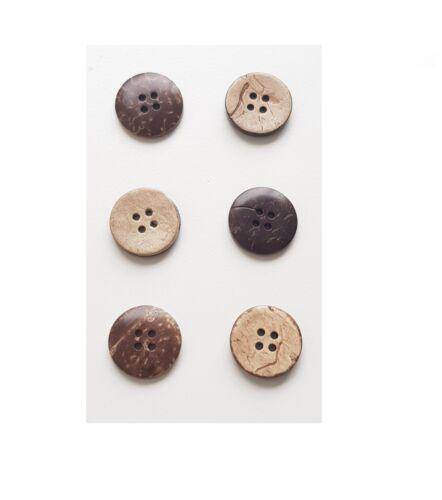 für Stoff Taschen Knopf Basteln IstaTools® Kokos Knöpfe zum annähen Leder