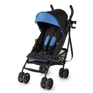 Summer Infant 3Dlite+ Convenience One-Hand Adjustable Stroller Blue/Black