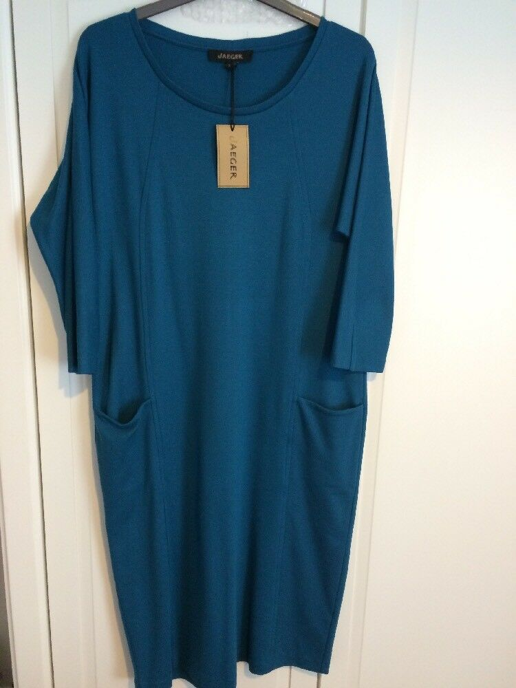 Womens JAEGER dress Size S bluee Formal Work