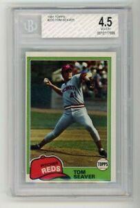 1981 Topps #220 Tom Seaver Reds Baseball Card BGS/BVG 4.5 Graded HOF