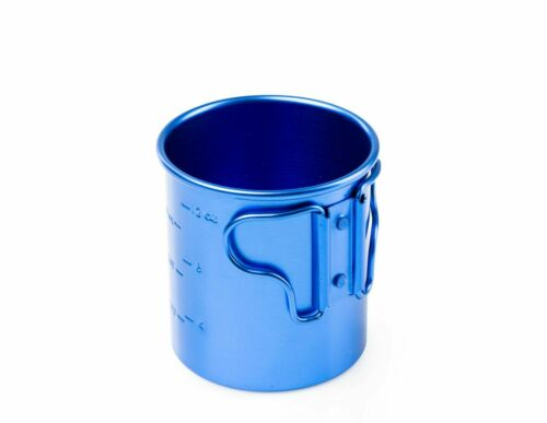 414ml ANODIZED ALLOY CAMPING CUP MUG FOLDING HANDLES GSI OUTDOORS BUGABOO 14oz