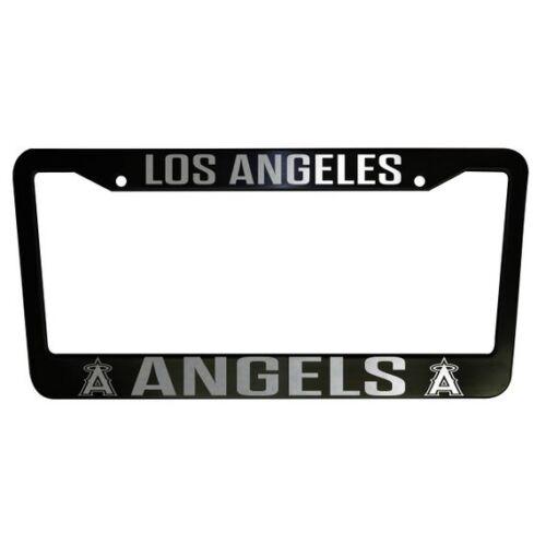 2 UNITS Los Angeles Angels Black Plastic License Plate Frame Truck Car Van