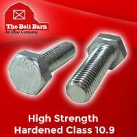 (25) M6-1.0x20 Metric Class 10.9 Hex Cap Screws Hex Bolts Zinc Clear