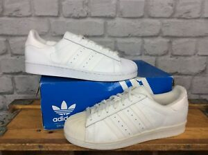 ADIDAS-ORIGINALS-MENS-UK-7-EU-40-2-3-ALL-WHITE-SUPERSTAR-SHELL-TOE-TRAINERS