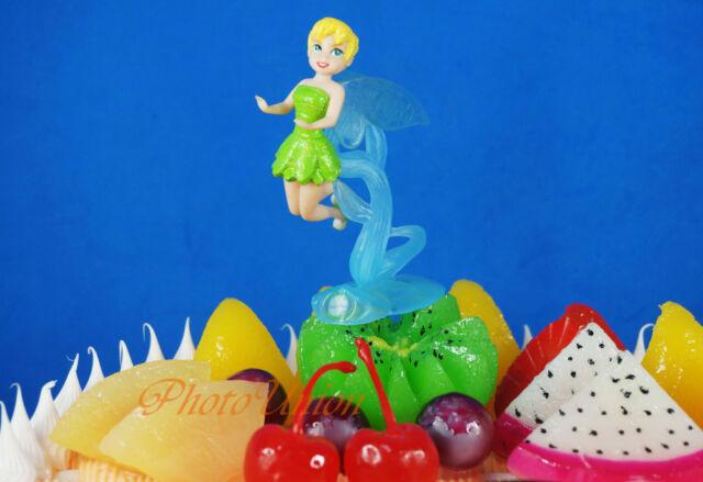 DISNEY FAIRIES TINKERBELL DOLL FIGURE Cake Topper Toy Model Decoration K1076_F