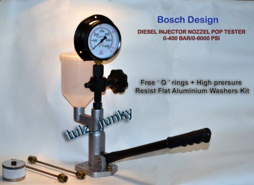 DIESEL INJECTOR NOZZLE POP TESTER 400//6000 EQUIPED WITH BOSCH DELIVERY VALVE