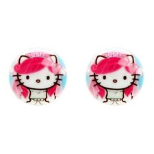 NEW Tarina Tarantino Pink Head Hello Kitty Bridal Round Post Earrings -50% OFF