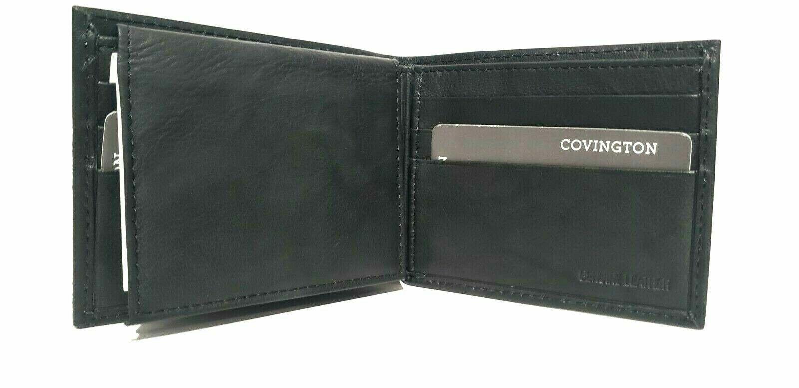 Men's Wallet, Buxton Men's Credit Card CC Billfold Wallet, Genuine Leather Black