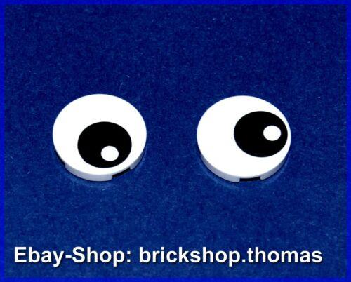 14769pb004 NEU // NEW Lego 2 x Augen Fliese rund weiß Tile Eye White