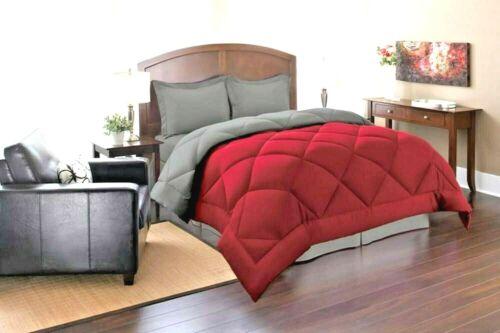 Red Color 1800 Counts Reversible Microfiber Super Soft 6 Pc Comforter Set
