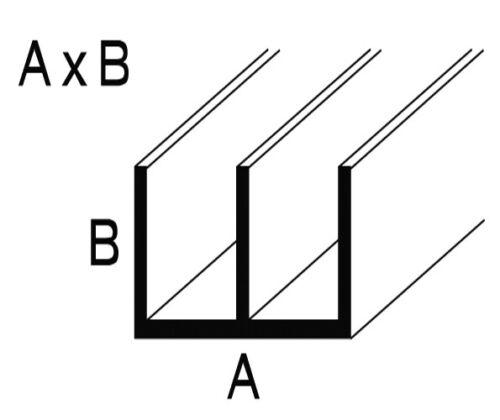 Aluminium natur eloxierte Doppel-U-Profile 1mm Stärke 1 Meter oder 2 Meter