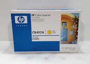 HP CB402A Yellow Toner Cartridge CP4005 SEALED BOX