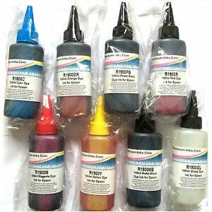 a796b1827dea0 Details about 8*100ml DYE PRINTER INK REFILL BOTTLES EPSON STYLUS PHOTO R  1900 R1900 NON OEM