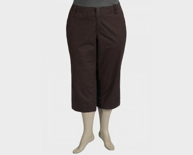 Avenue Femmes Marron Pantalon Raccourci Taille 20 Neuf Avec étiquettes